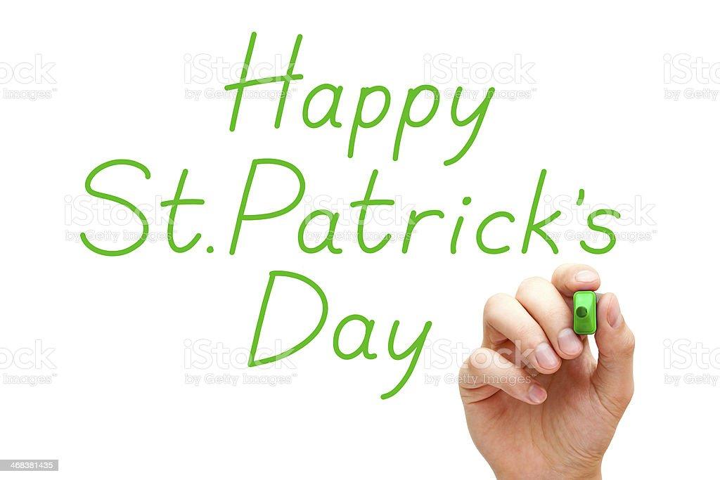 Happy Saint Patricks Day Green Marker royalty-free stock photo