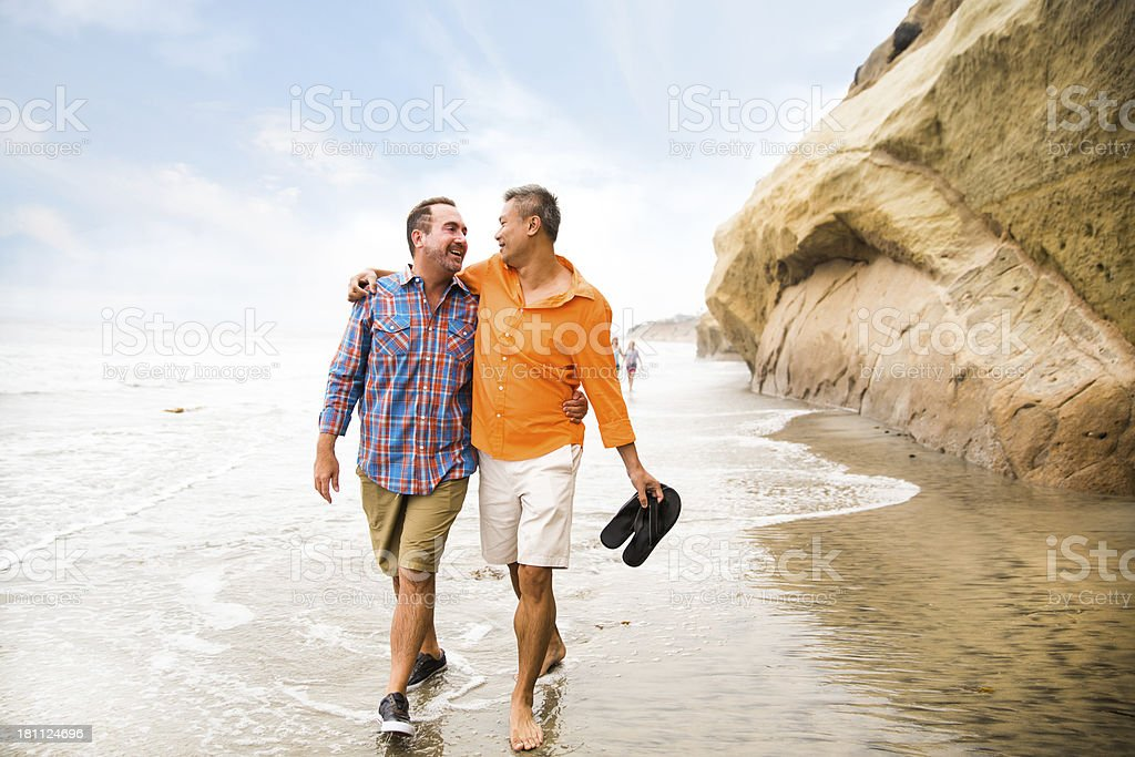 Happy same sex couple royalty-free stock photo