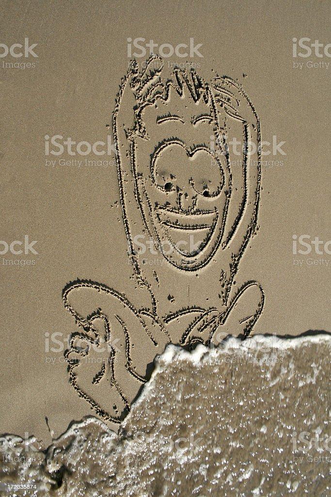 Happy Sand Man royalty-free stock photo