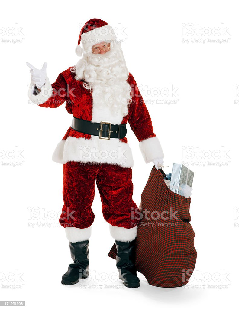 Happy Santa Claus with Presents royalty-free stock photo