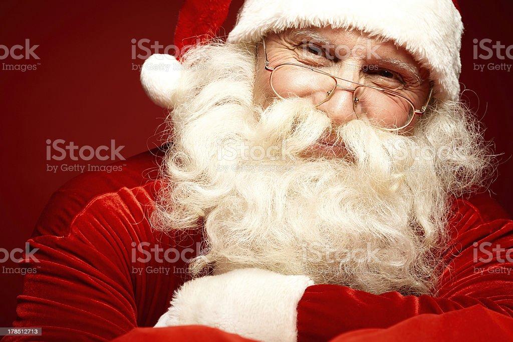 Happy Santa royalty-free stock photo