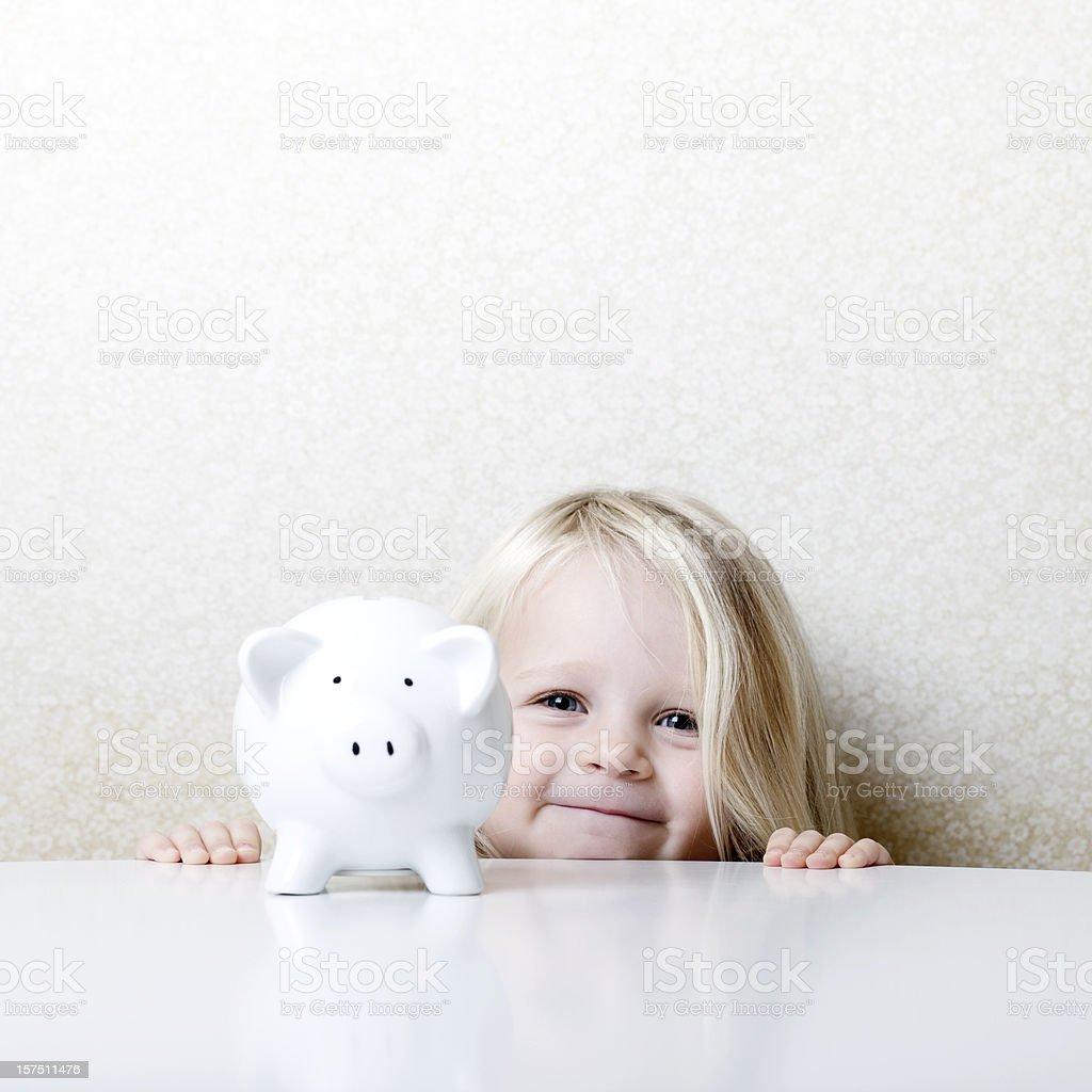 Happy savings royalty-free stock photo