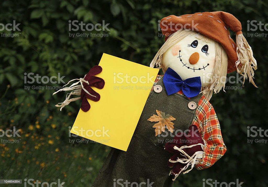Happy scarecrow.. stock photo