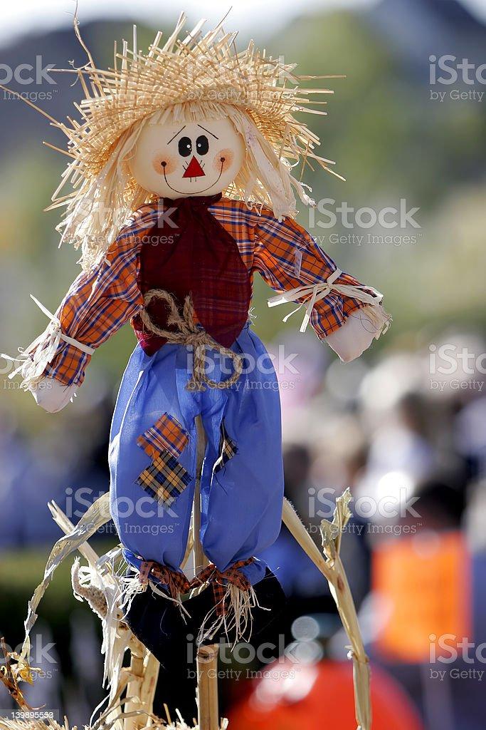 Happy Scarecrow #2 royalty-free stock photo