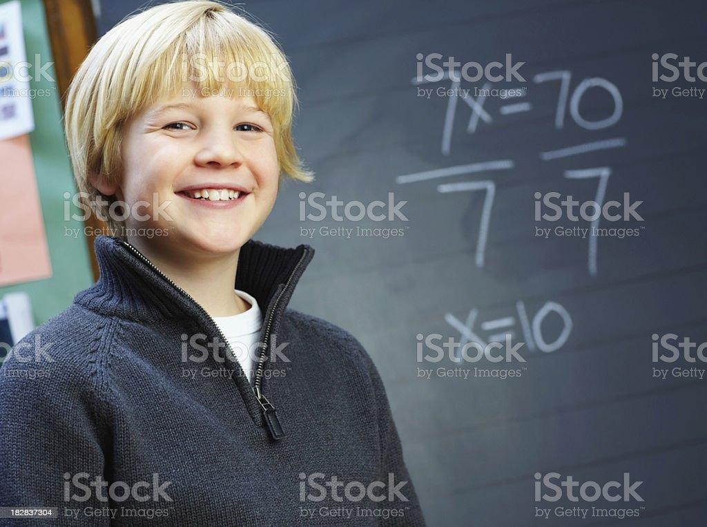 Happy school student royalty-free stock photo