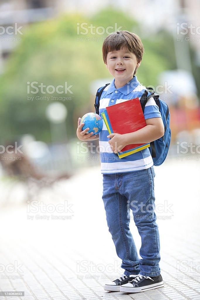 happy schoolboy stock photo