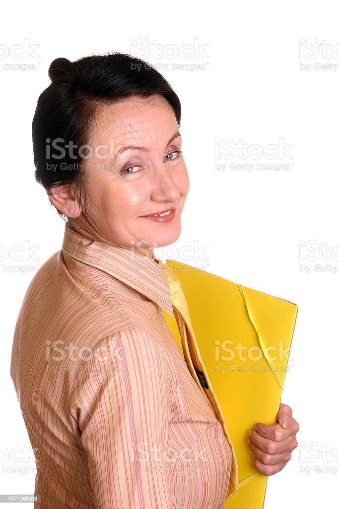 Happy secretary royalty-free stock photo