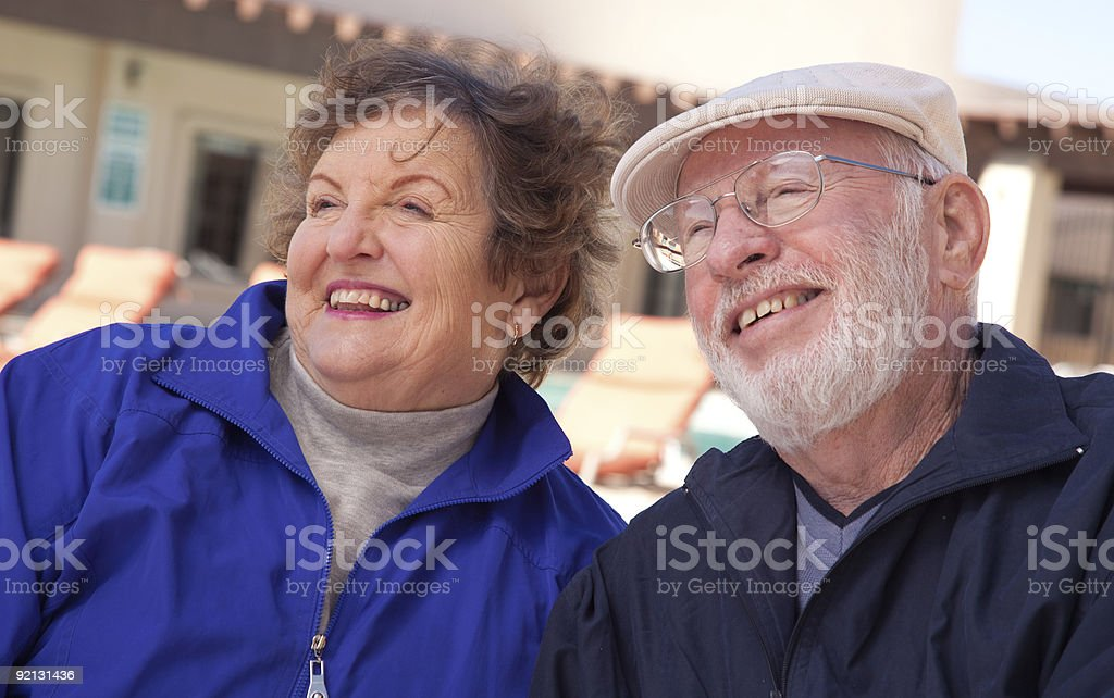 Happy Senior Adult Couple royalty-free stock photo