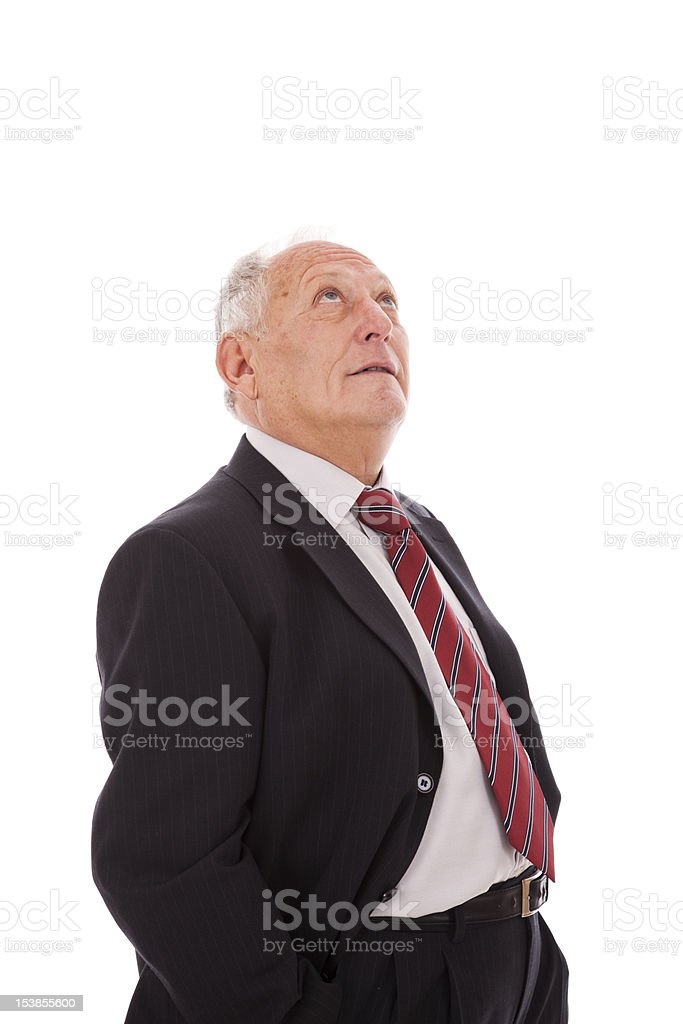 Happy senior businessman royalty-free stock photo