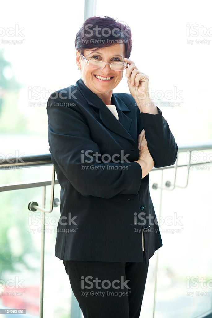 Happy senior businesswoman royalty-free stock photo