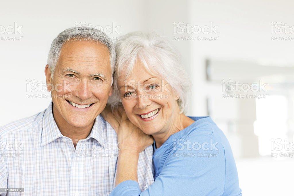 Happy Senior Couple At Home. royalty-free stock photo