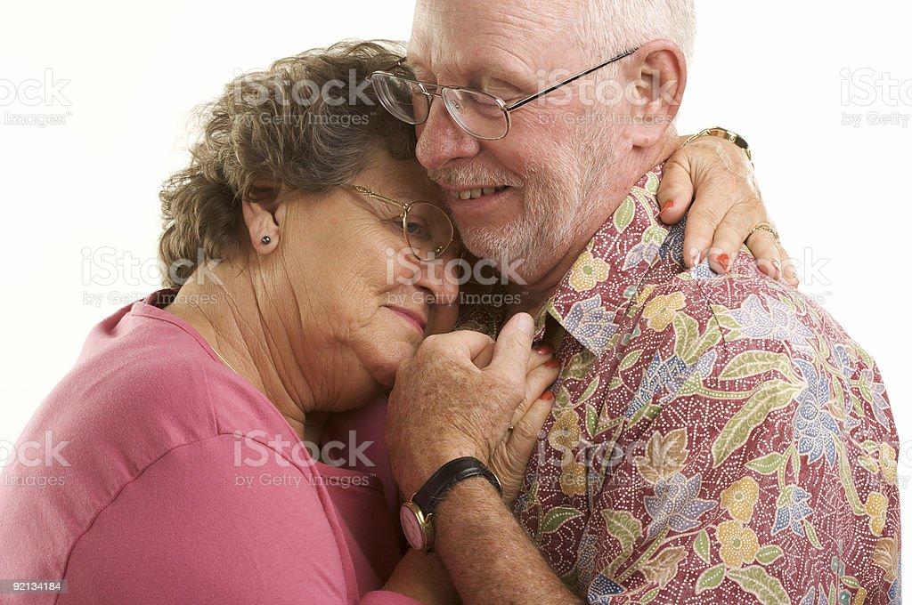 Happy Senior Couple Dancing. royalty-free stock photo