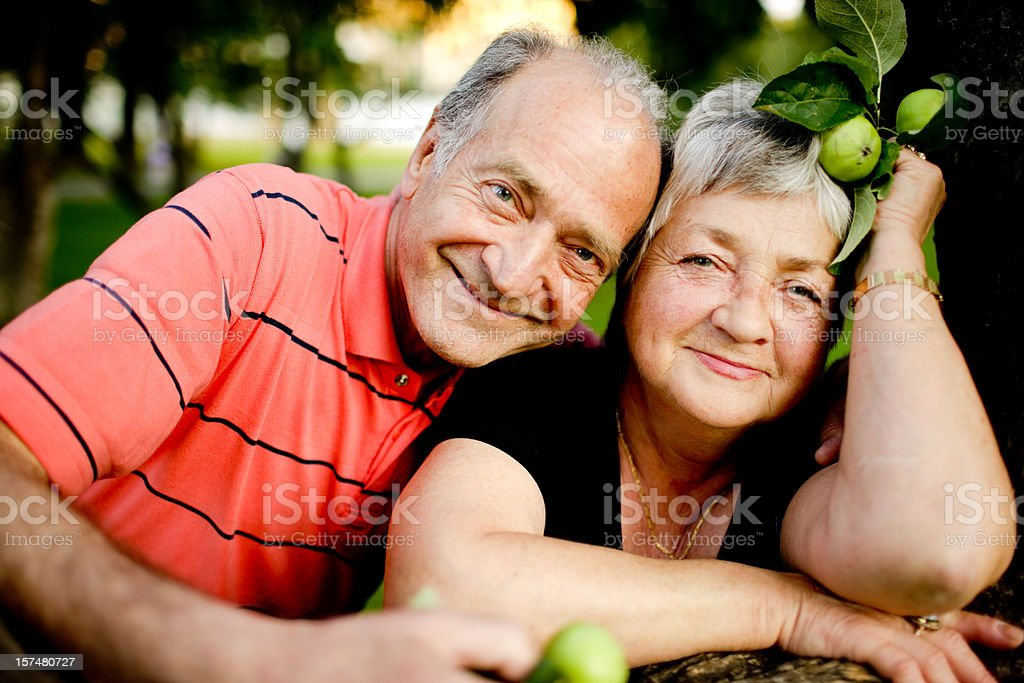 Happy Senior Couple Enjoying Summer royalty-free stock photo