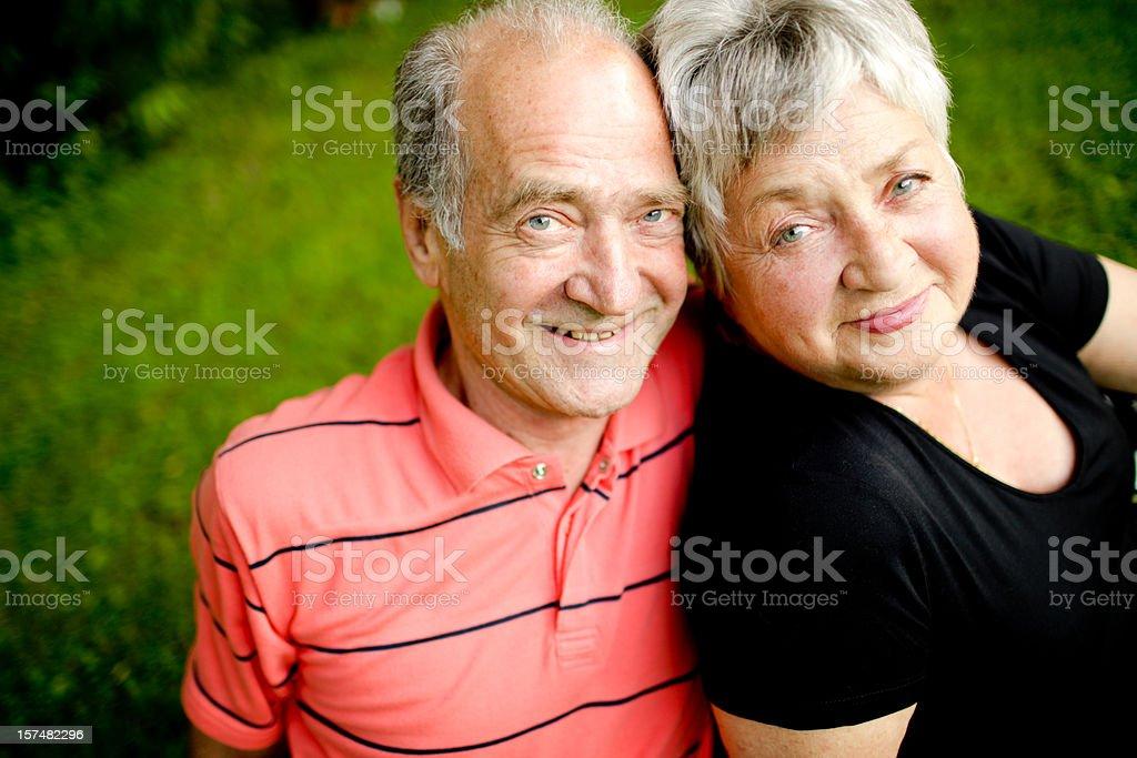 Happy Senior Couple Enjoying Summer royalty-free stock photo