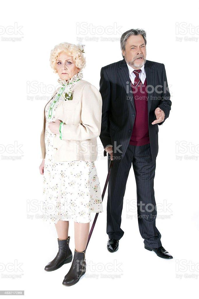 Happy senior couple in love stock photo