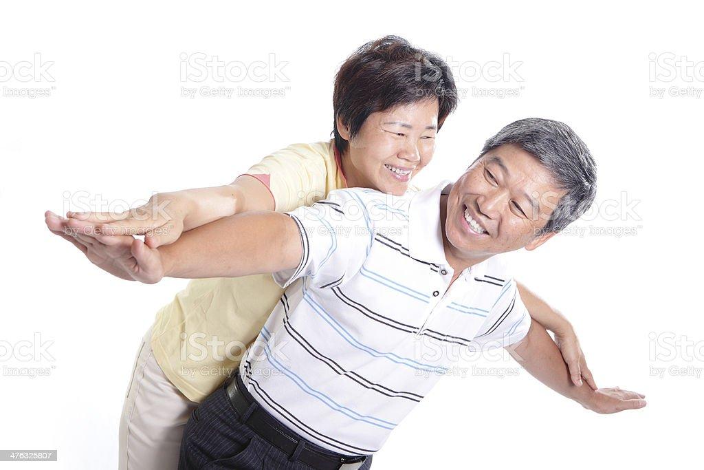 Happy senior couple in love royalty-free stock photo