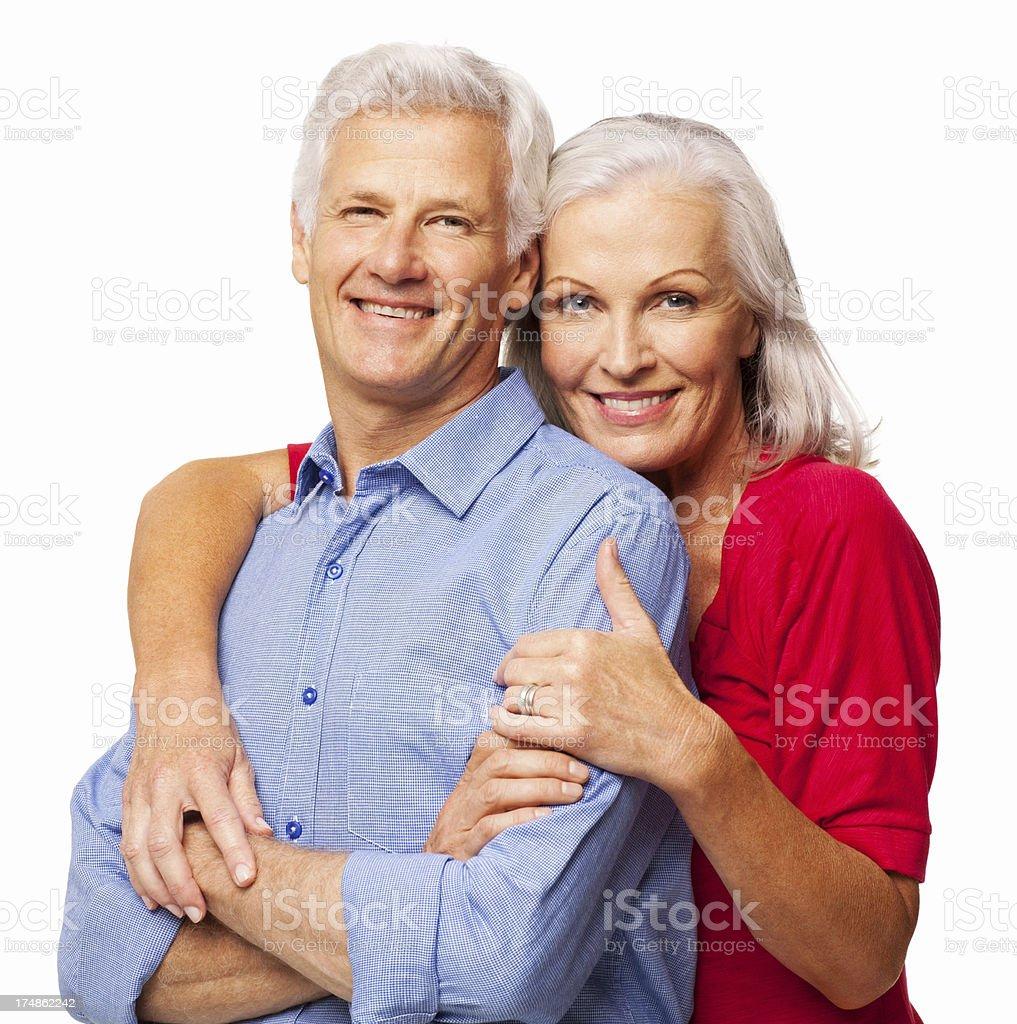 Happy Senior Couple - Isolated royalty-free stock photo