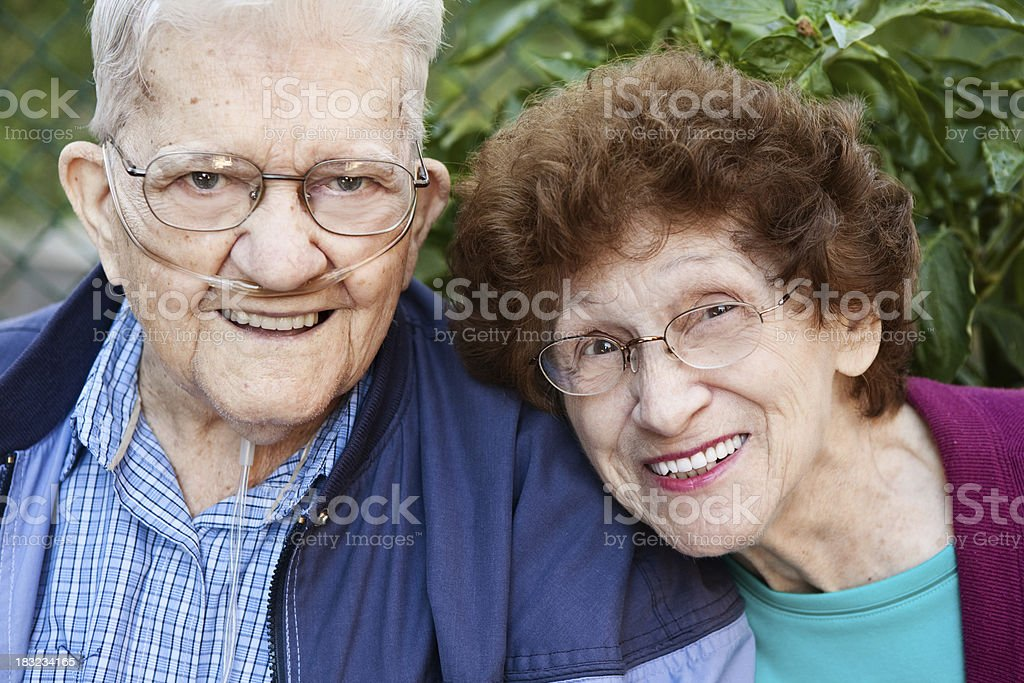 Happy Senior Couple Outdoors royalty-free stock photo