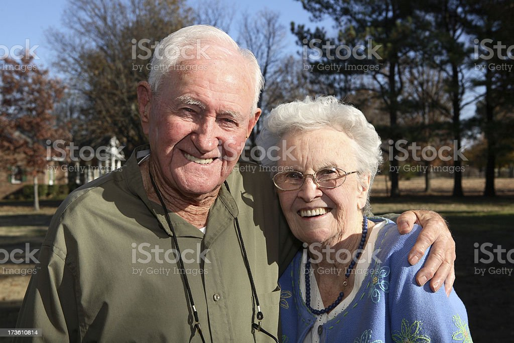Happy senior couple. royalty-free stock photo
