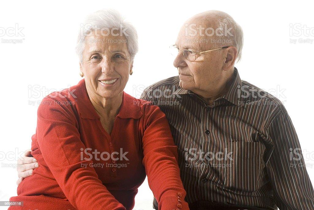 Happy senior couple royalty-free stock photo