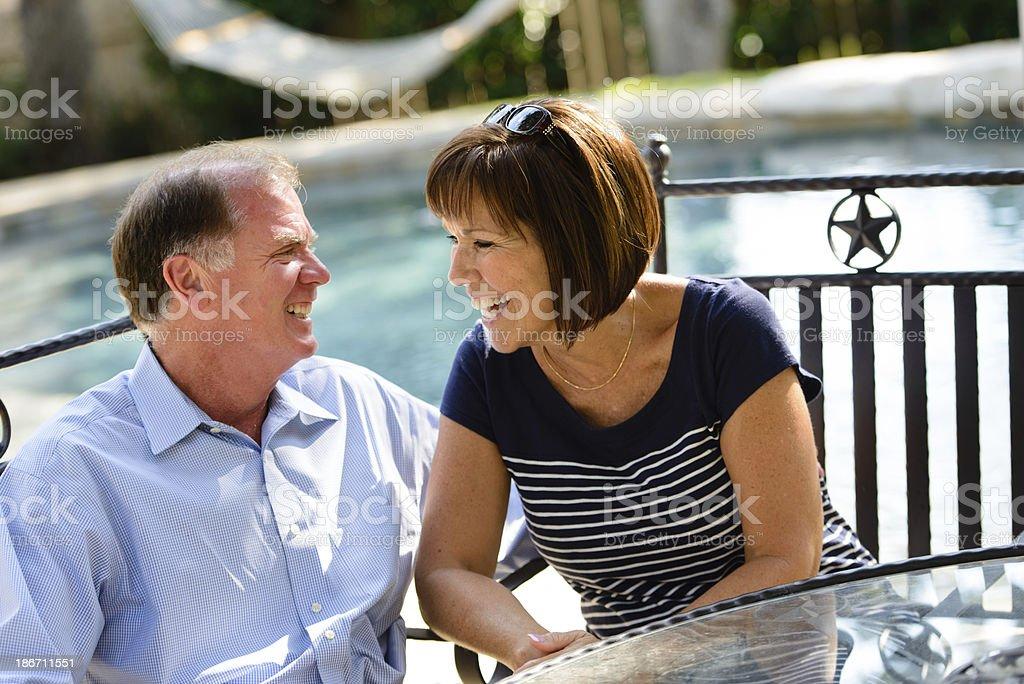 Happy Senior Couple Together royalty-free stock photo