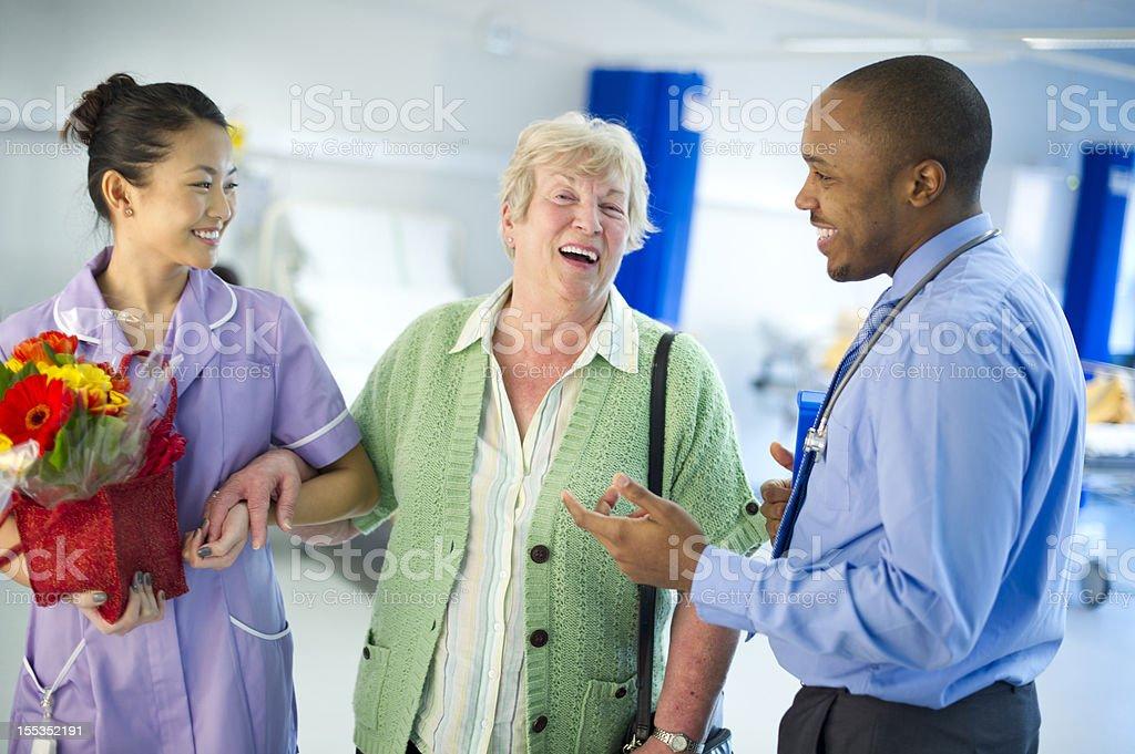 happy senior healthcare stock photo