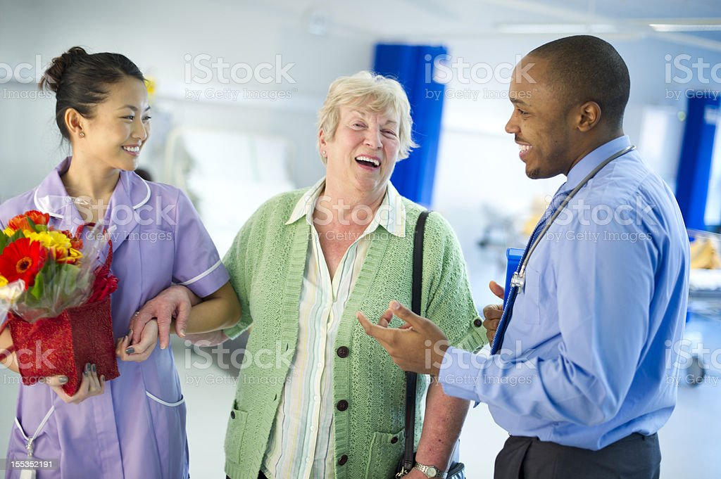 happy senior healthcare stock photo