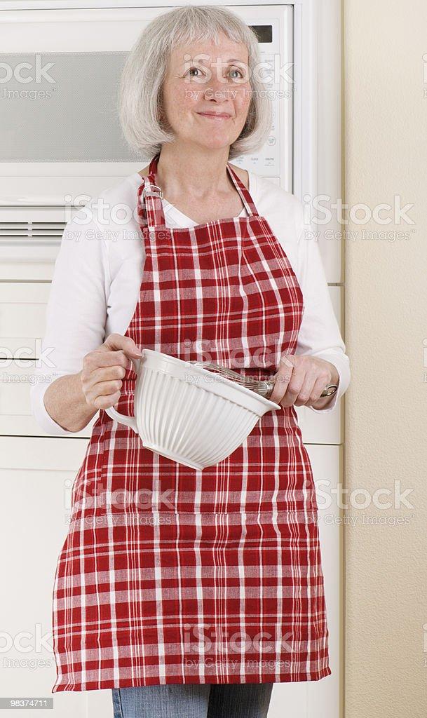 Happy Senior Homemaker royalty-free stock photo