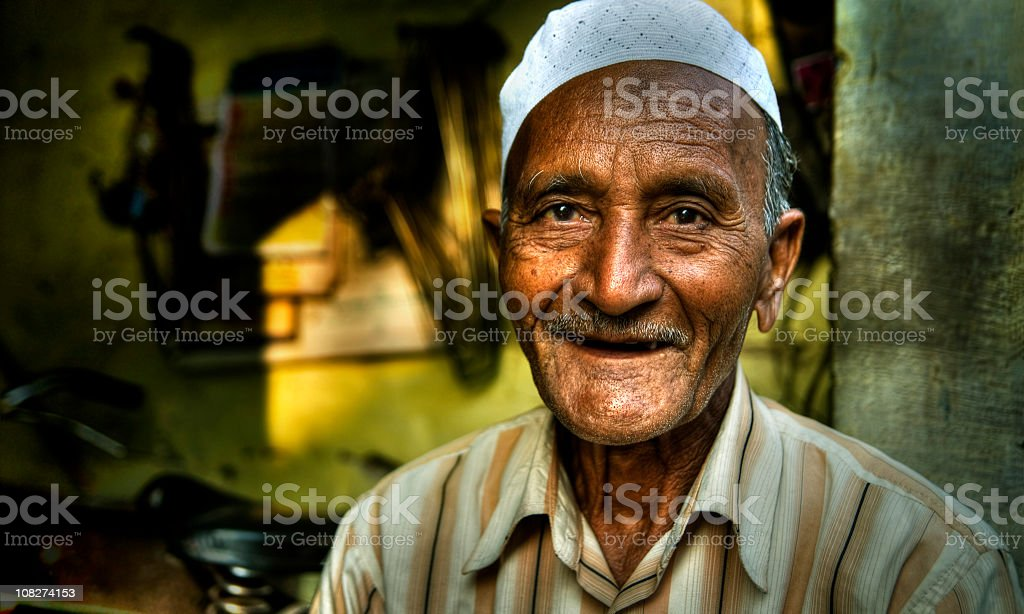Happy Senior Indian Man. stock photo