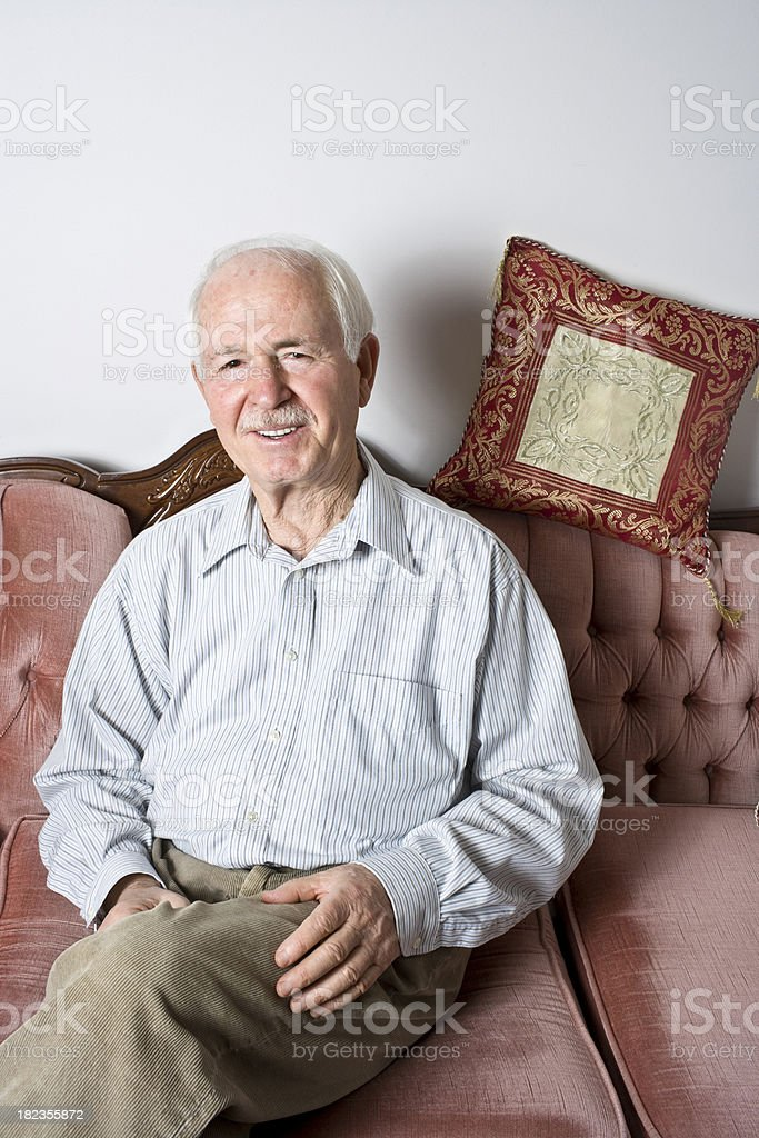 Happy Senior Man at home royalty-free stock photo