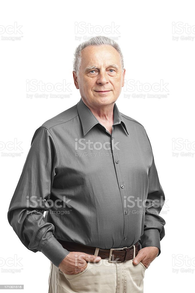 happy senior man royalty-free stock photo
