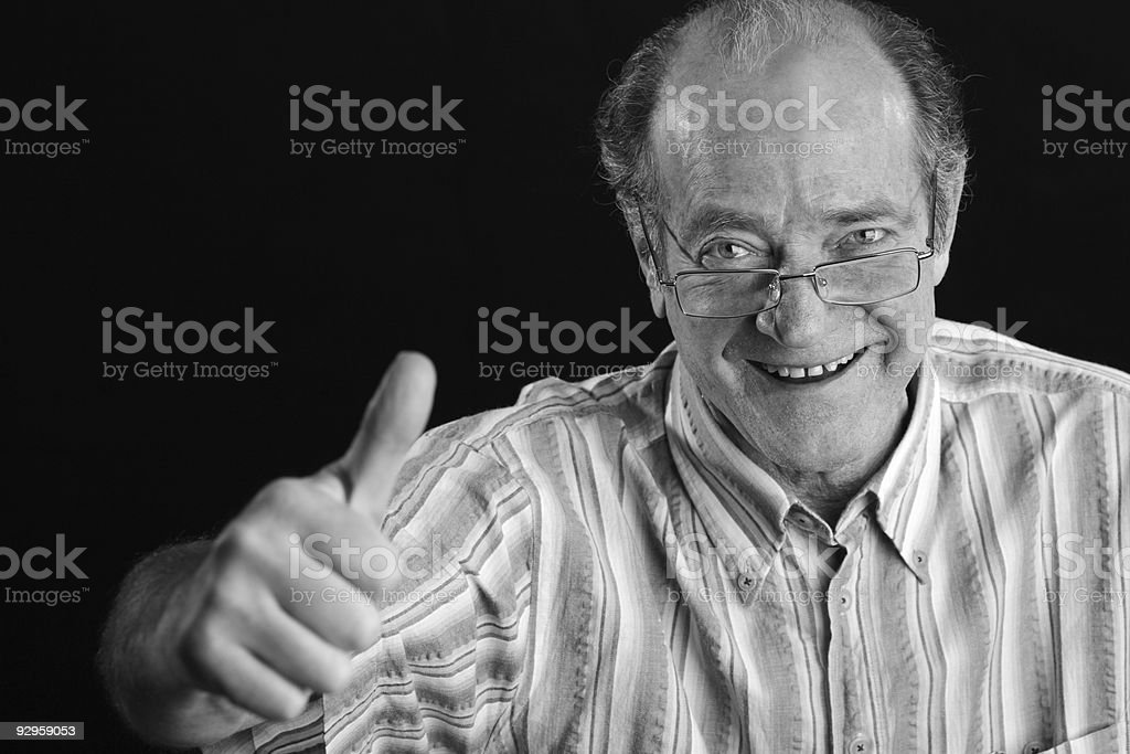 Happy Senior Man royalty-free stock photo