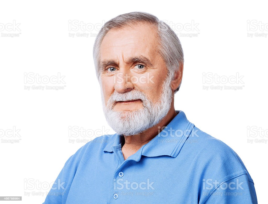 Happy senior men stock photo