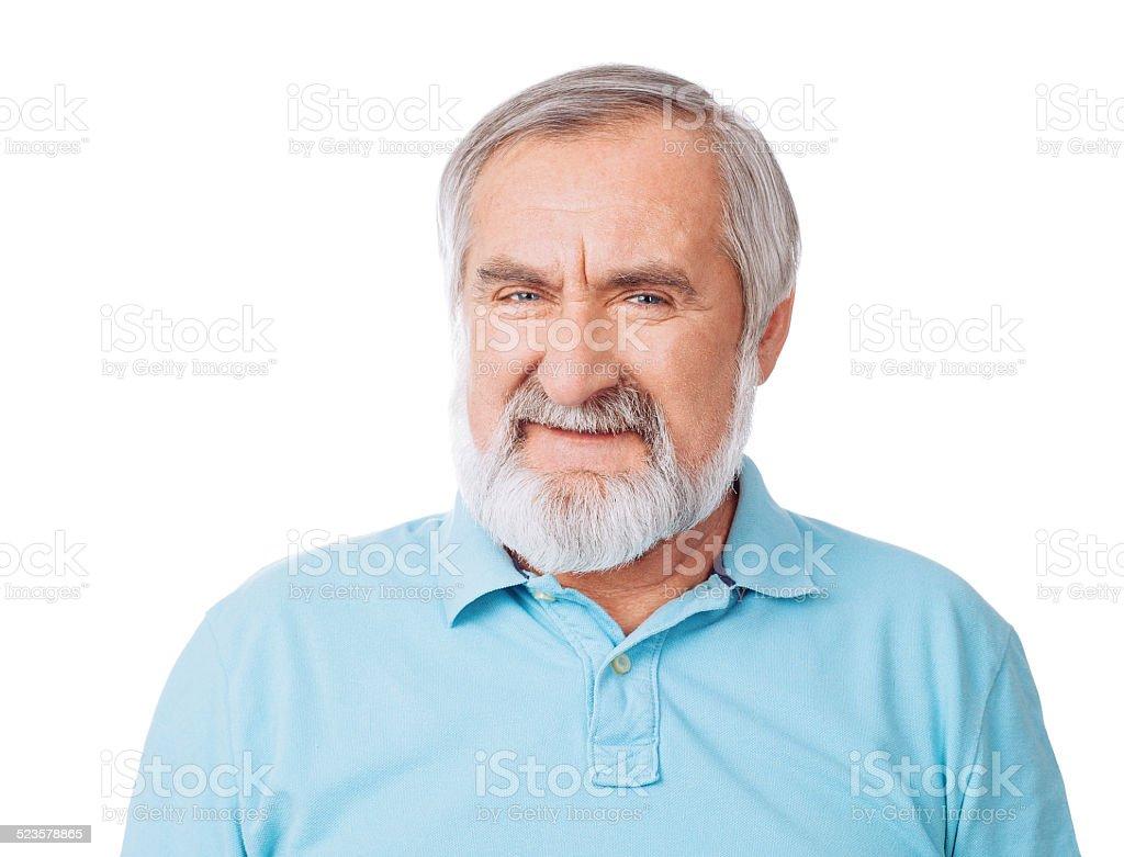 Happy senior men stock photo