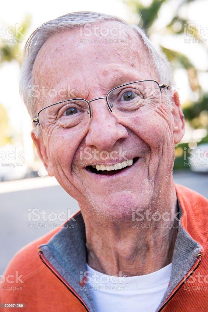 Happy senior stock photo