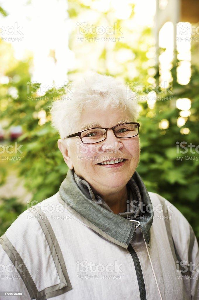 happy senior woman royalty-free stock photo