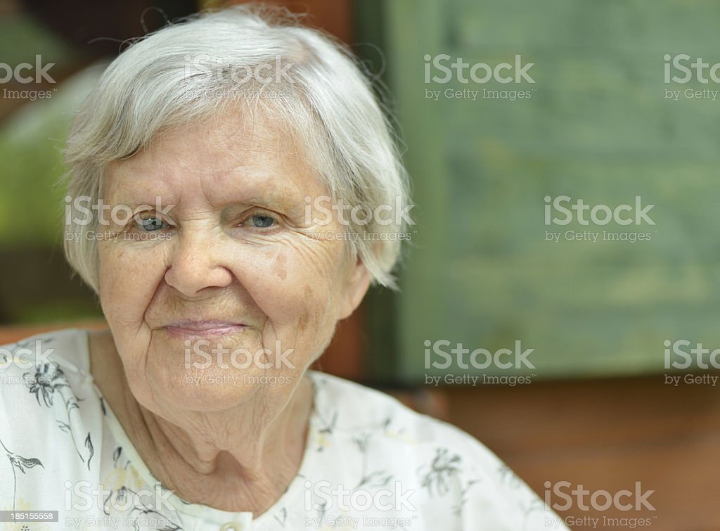 Happy senior woman. royalty-free stock photo