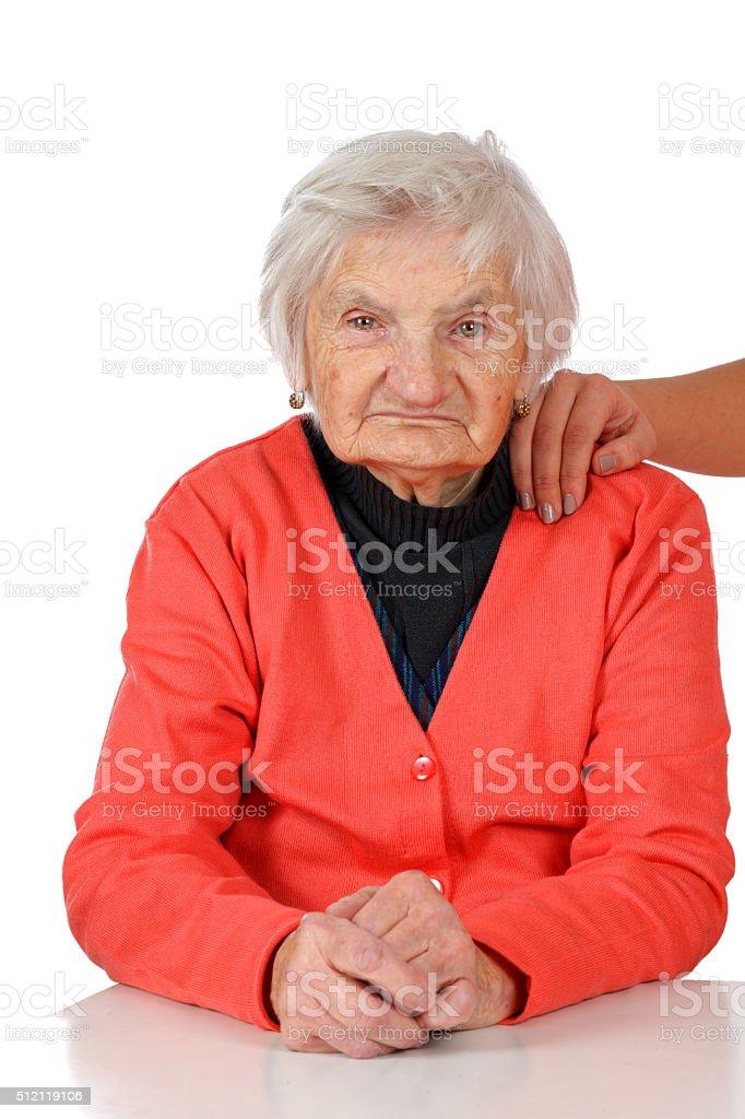 Happy senior woman stock photo