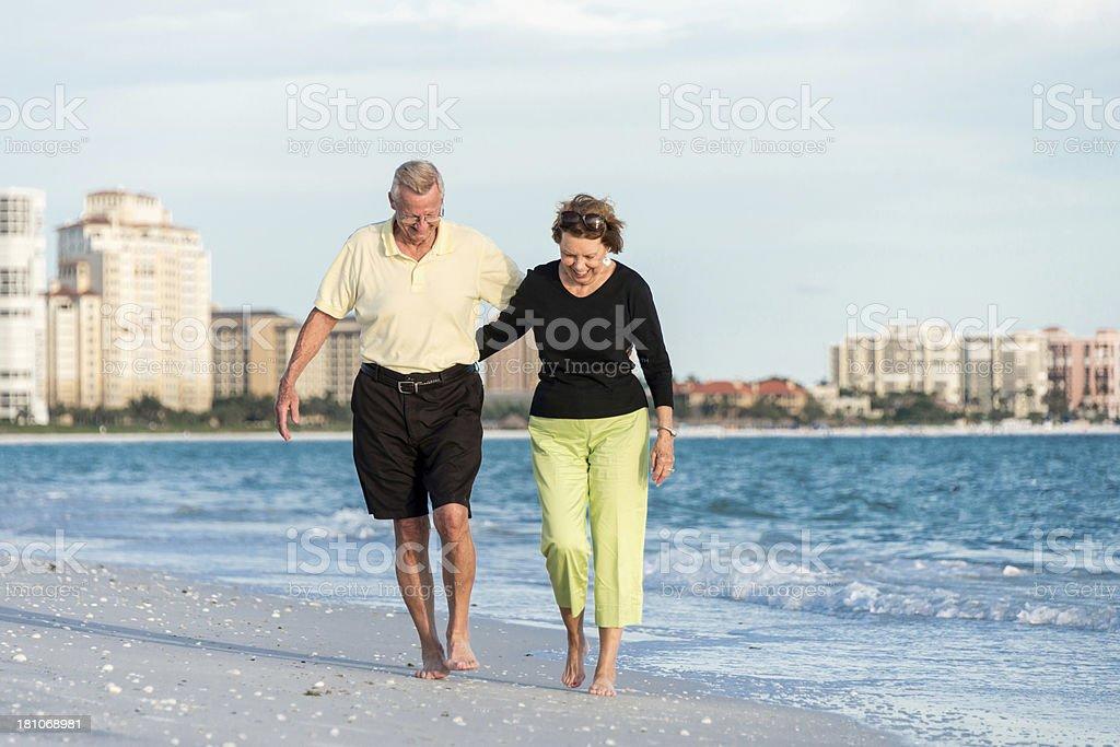 Happy seniors stock photo