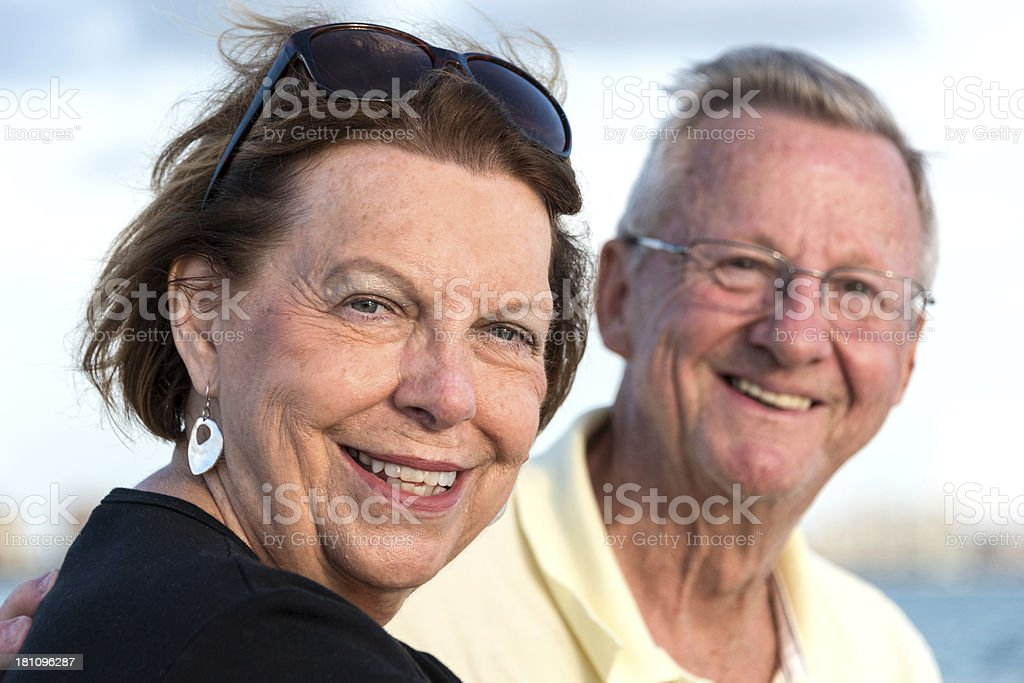 Happy seniors royalty-free stock photo
