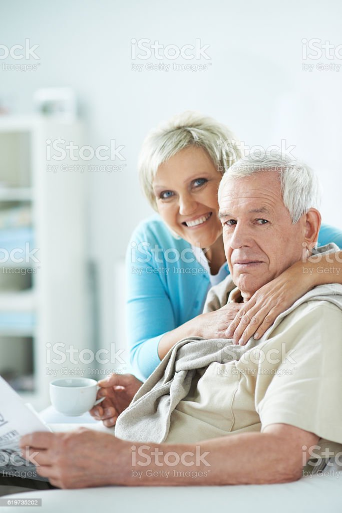 Happy seniors stock photo