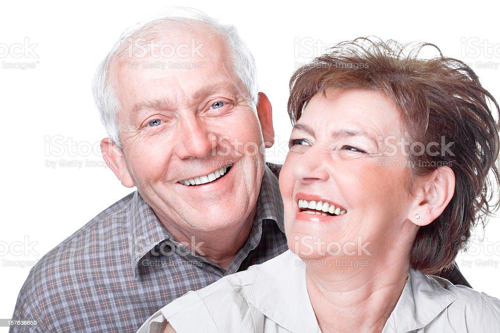 Happy Seniors, Studio Portrait royalty-free stock photo