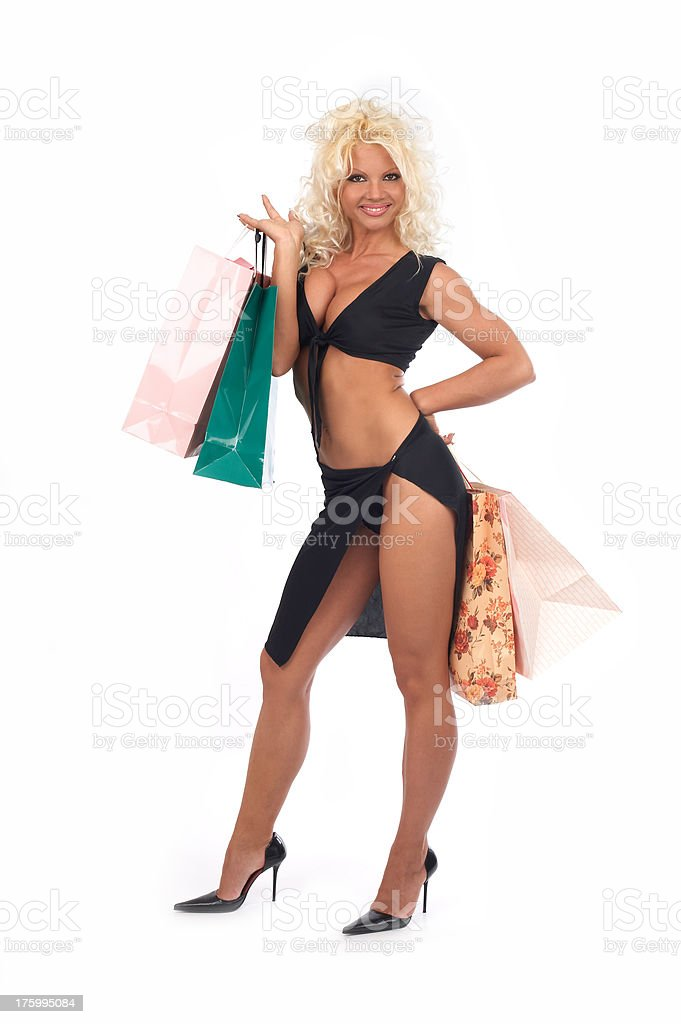 Happy shoping royalty-free stock photo