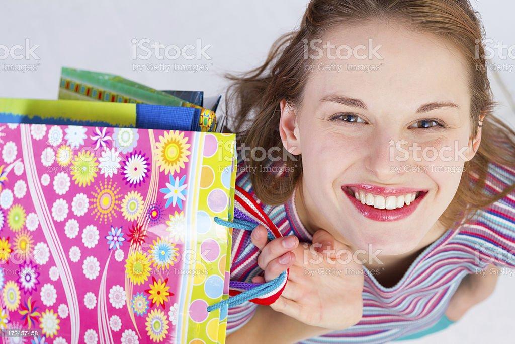 Happy shopper royalty-free stock photo