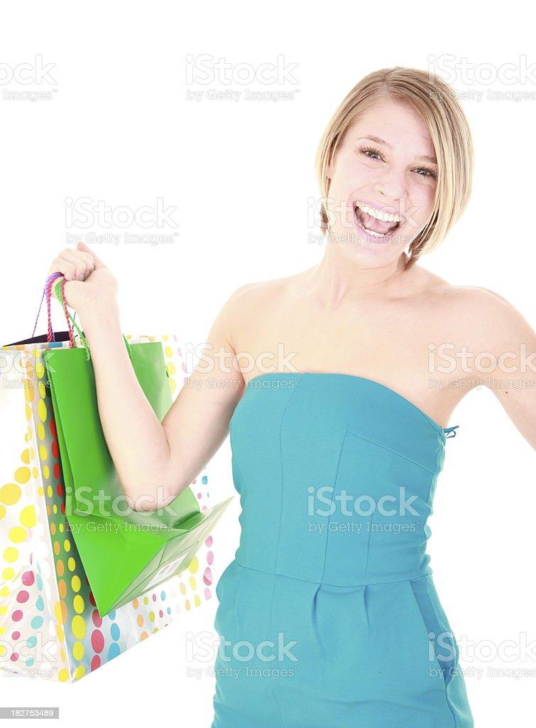 Feliz compras foto de stock libre de derechos