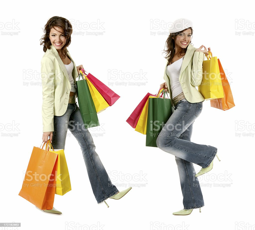 happy shoppers royalty-free stock photo