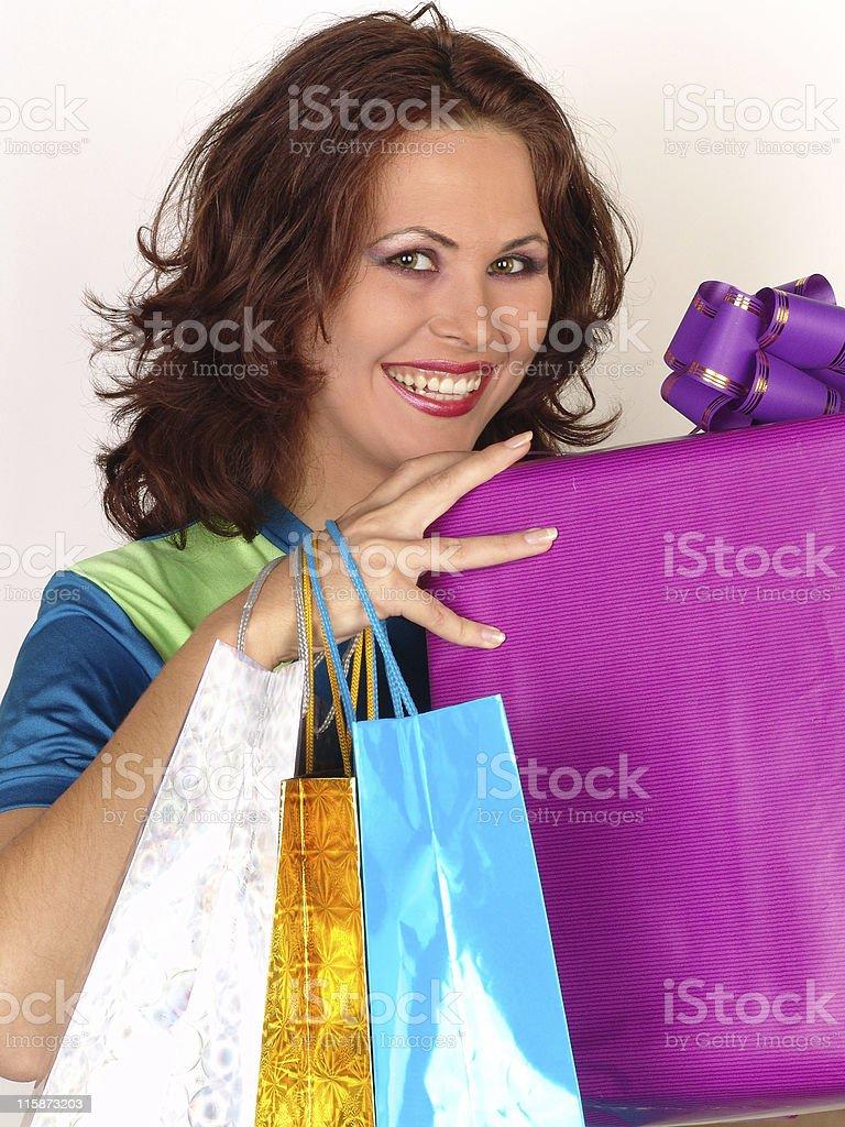 Happy shopping 01 stock photo