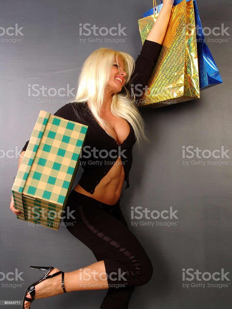 Happy shopping 02 stock photo