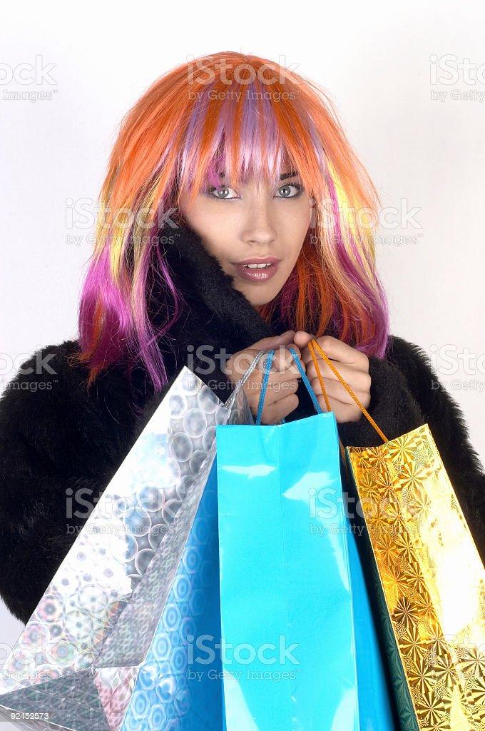 Happy shopping 03 stock photo