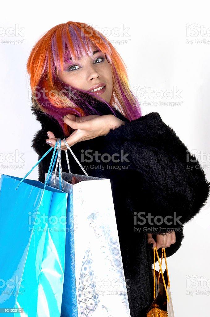 Happy shopping 04 stock photo
